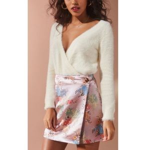 UO Silk Floral Skirt